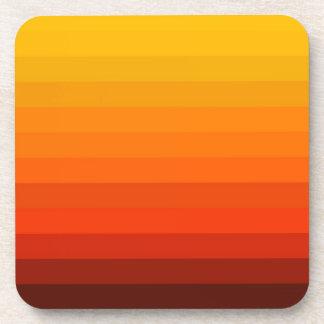 Super Orange Stripes Coaster