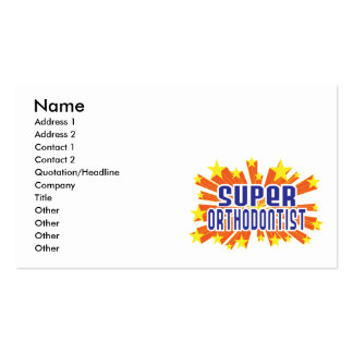 Super Orthodontist Business Cards