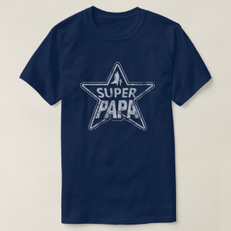 Super Papa distressed T-Shirt