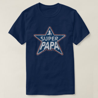 Super Papa Red White and Blue T-Shirt
