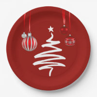 Super Party Christmas Party Paper Plates