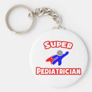 Super Pediatrician Basic Round Button Keychain