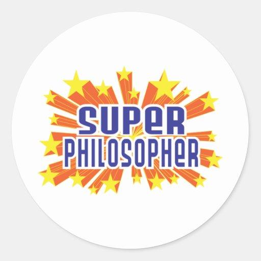 Super Philosopher Round Sticker