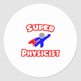 Super Physicist Classic Round Sticker