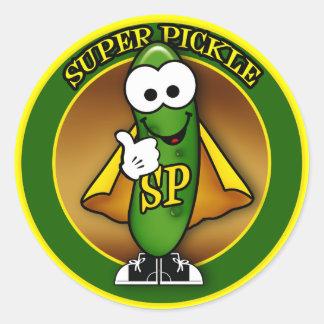 Super Pickle Sticker Round Sticker
