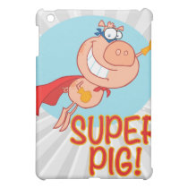 super pig superhero pig flying cover for the iPad mini