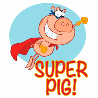 super pig superhero pig flying acrylic cut outs