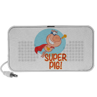super pig superhero pig flying iPod speakers