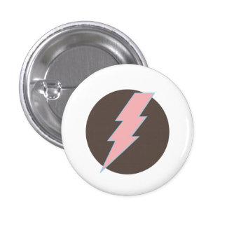 Super Pink Thunderbolt Pinback Button