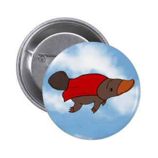 Super Platypus Pinback Button