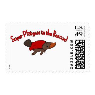 Super Platypus Postage Stamp