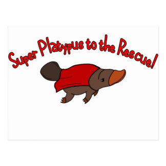 Super Platypus Post Card