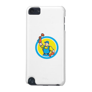 Super Plumber With Plunger Circle Cartoon iPod Touch (5th Generation) Case