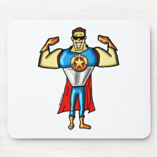 Super Police Instructor Man Gun Show Mouse Pad