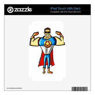 Super Police Instructor Man Gun Show iPod Touch 4G Decal