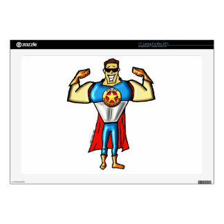 "Super Police Instructor Man Gun Show 17"" Laptop Decal"
