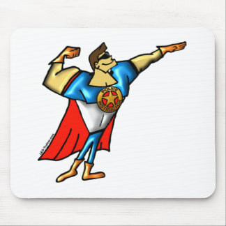Super Police Instructor Man Mouse Pad