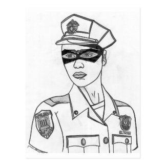 Super Policewoman Postcards