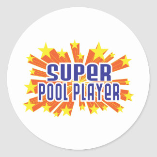 Super Pool Player Classic Round Sticker