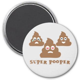 Super Pooper Emoji Magnet
