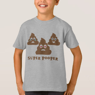 Super Pooper Emoji T-Shirt