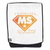 Super Power Multiple Sclerosis Awarness Backpack