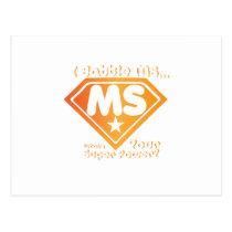 Super Power Multiple Sclerosis Awarness Postcard