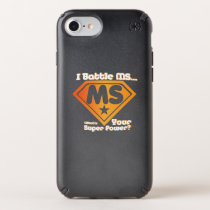 Super Power Multiple Sclerosis Awarness Speck iPhone Case