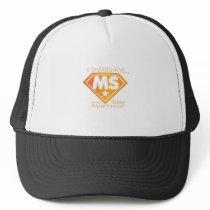 Super Power Multiple Sclerosis Awarness Trucker Hat