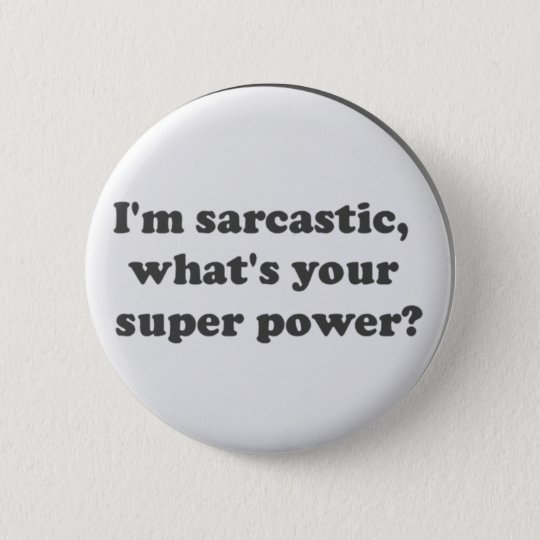 Super Power Pinback Button