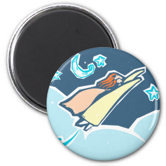Super Powered Woman 2 Inch Round Magnet