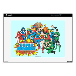 """Super Powers™ Collection 2 15"""" Laptop Skins"""