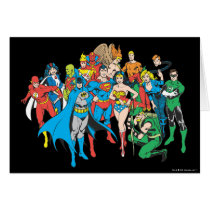 super, powers, collection, justice league heroes, justice, league, justice league logo, justice league, logo, hero, heroes, dc comics, comics, comic, comic book, comic book hero, comic hero, comic heroes, comic book heroes, dc comic book heroes, batman, bat man, the dark knight, superman, super man, green lantern, wonder woman, shazam, green arrow, hawk man, hawk woman, plastic man, firestorm, dr. fate, martian manhunter, red tornado, darkseid, aquaman, supergirl, the emerald warrior, Card with custom graphic design