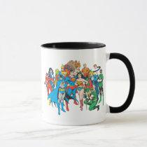super, powers, collection, justice league heroes, justice, league, justice league logo, justice league, logo, hero, heroes, dc comics, comics, comic, comic book, comic book hero, comic hero, comic heroes, comic book heroes, dc comic book heroes, batman, bat man, the dark knight, superman, super man, green lantern, wonder woman, shazam, green arrow, hawk man, hawk woman, plastic man, firestorm, dr. fate, martian manhunter, red tornado, darkseid, aquaman, supergirl, the emerald warrior, Mug with custom graphic design