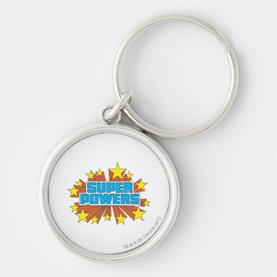 Super Powers™  Logo Blue Keychain