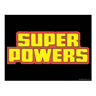 Super Powers™  Logo Yellow Post Cards
