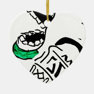 super premium ice cream ceramic ornament