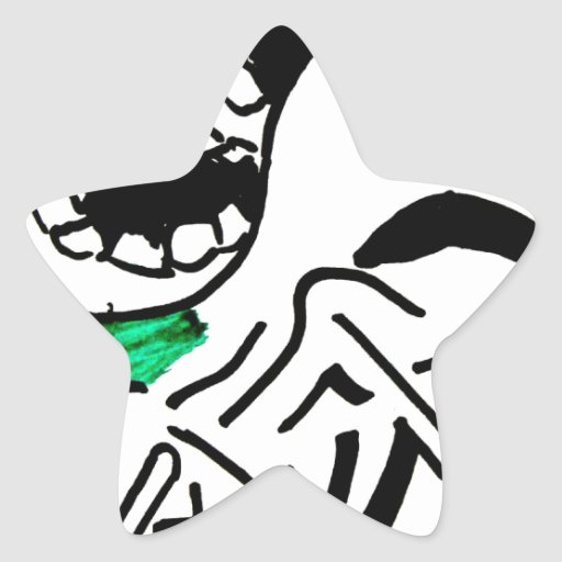 super premium ice cream star sticker