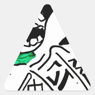 super premium ice cream triangle sticker