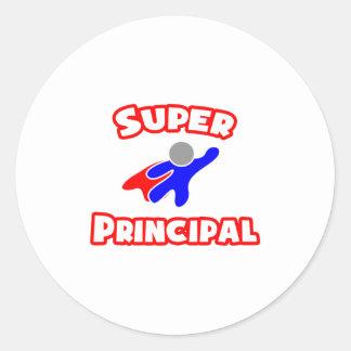 Super Principal Classic Round Sticker