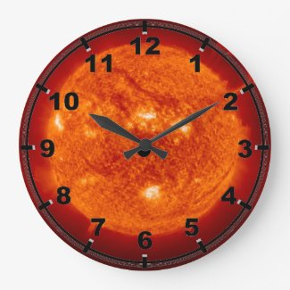 Super Prominence - Sun in Space Large Clock