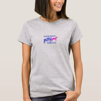 Super Proud Pitty Parent Pride with Pitty Back T-Shirt