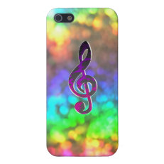Super Psychedelic Sorta Tie-Dye Treble Music Clef Cases For iPhone 5