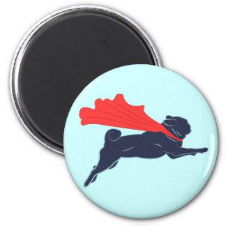 Super Pug 2 Inch Round Magnet