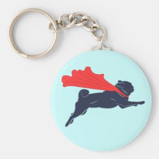 Super Pug Key Chain