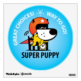 Super Puppy Wall Decal