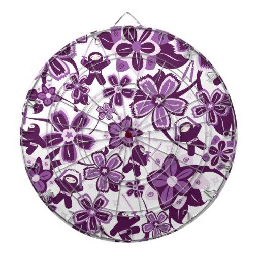 Super Purple Ninja Warriors Dart Board