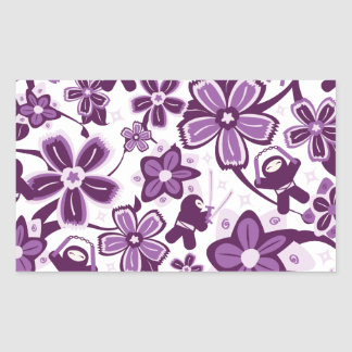 Super Purple Ninja Warriors Rectangular Sticker