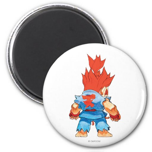 Super Puzzle Fighter II Turbo Akuma Refrigerator Magnets