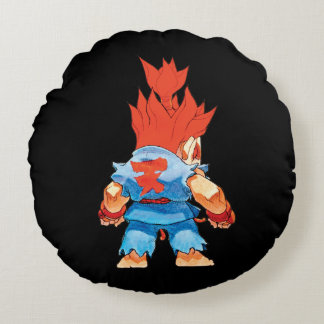 Super Puzzle Fighter II Turbo Akuma Round Pillow